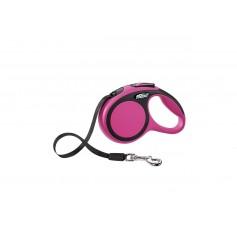 Flexi Рулетка-ремень для собак до 12кг, 3м, розовая, New Comfort XS Tape 3 m, pink, арт. 10852.роз.