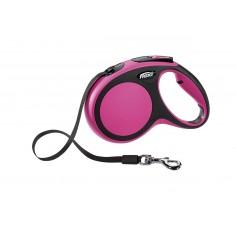 Flexi Рулетка-ремень для собак до 25 кг, 5м, розовая, New Comfort M Tape 5 m, pink, арт. 10854.роз