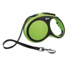 Flexi Рулетка-ремень для собак до 50кг, 8м, зеленая, New Comfort L Tape 8 m, green, арт. 10856.зел