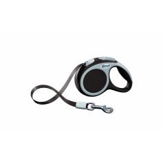 flexi Рулетка-ремень для собак до 12кг, 3м, коричневая, VARIO XS tape 3m brown, артикул: 19259