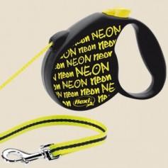 """flexi Рулетка-трос """"Неон"""" для собак до 12 кг, 5 м, Neon Small, артикул: 14122"""