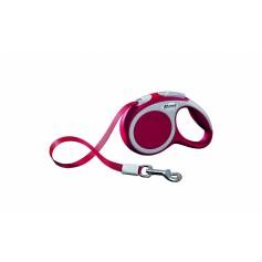 flexi Рулетка-трос для собак до 12кг, 5м, красная, VARIO S cord 5m red, артикул: 19255