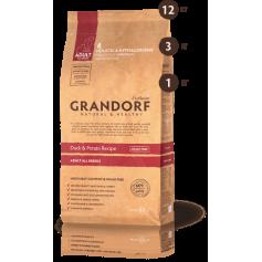Grandorf корм для взрослых собак всех пород, утка с бататом, 12 кг.