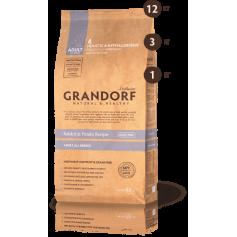 Grandorf корм для взрослых собак всех пород, кролик с бататом, 12 кг.