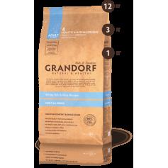 Grandorf корм для взрослых собак всех пород , белая рыба с рисом, 12 кг.