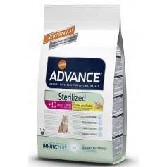 Advance для стерилизованных кошек после 10 лет, 1,5 кг.