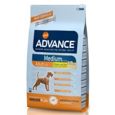 Advance Medium, корм для взрослых собак, курица с рисом, 14 кг.