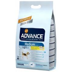 Advance  Light Medium, облегченный корм для взрослых собак, курица с рисом, 12 кг.