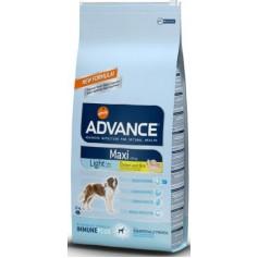 Advance  Light Maxi, облегченный корм для взрослых собак, курица с рисом, 14 кг.