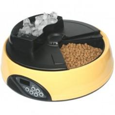 Feedex Автокормушка на 4 кормления для сухого корма и консерв, с емкостью для льда, желтая, PF1B, артикул: 14045.жел