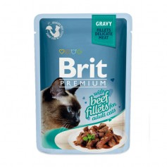 Brit Premium Кусочки из филе говядины в соусе, паучи, 85 гр.
