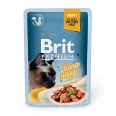 Brit Premium Кусочки из филе тунца в соусе паучи, 85 гр.