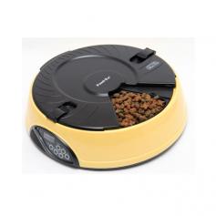 Feedex Автокормушка желтая на 6 кормлений для сухого корма и консервов, с емкостью для льда, артикул: 16385