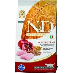 Фармина для кошек N&D, курица-гранат, низкое содержание зерна, 10 кг