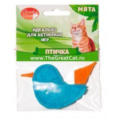 """Мини-игрушка """"птичка"""" с наполнителем из кошачьей мяты. 5 см."""