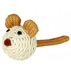 Мышка Trixie с погремушкой, веревка, 5 см