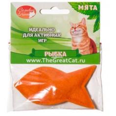 """Мини-игрушка """"рыбка"""" с наполнителем из кошачьей мяты. 5 см."""