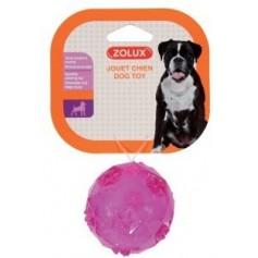 Мяч, термопластичная резина (малиновая), Зоолюкс  6 см.