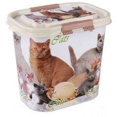 """Контейнер """"Cats"""" для корма, 10 лит."""