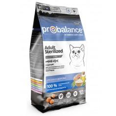 ProBalance Sterilized для кастрированных котов и стерилизованных кошек, 10 кг.