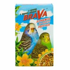 Brava корм для волнистых попугаев с орехами и морской капустой, 500 гр.