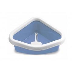 Stefanplast Туалет угловой Sprint Corner, с рамкой и совочком, голубой, 40x56x14 см, 600 г артикул: 21413