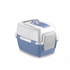 Stefanplast Туалет закрытый Wivacat, с угольным фильтром, голубой, 55x40x40 см, 1,7 кг артикул: 21417