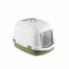 Stefanplast Туалет закрытый Super Queen, с угольным фильтром, зеленый, 55x71x47 см, 2,64 кг артикул: 22737