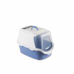 Stefanplast Туалет-домик Cathy Easy Clean с угольным фильтром, голубой, 56x40x40 см, 1,52 кг артикул: 23181