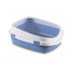 Stefanplast Туалет Queen с рамкой, голубой, 55x71x24,5 см, 1,65 кг артикул: 21415