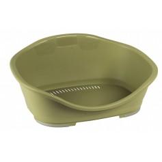 Stefanplast Пластиковый лежак Sleeper 1: 57x42x24 см, зеленый, 500 г артикул: 12993