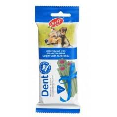 Titbit Жевательный снек DENT со вкусом телятины, для средних собак, 1 шт.
