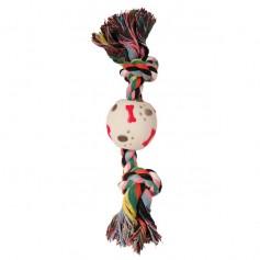 Веревка цветная с мячом лапы-косточки