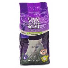 Van Cat Комкующийся наполнитель без пыли с ароматом лаванды, пакет, 10 кг.