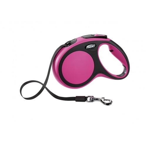Рулетка-ремень flexi для собак до 25кг 5м розовая казино европа азартные бесплатные игры